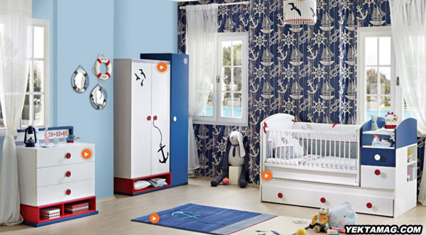 مدل تخت و کمد نوزاد و سرویس خواب کودک