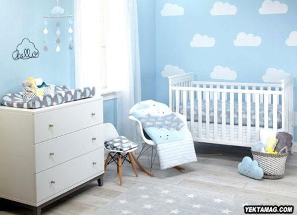 ست آبی اتاق کودک و نوزاد