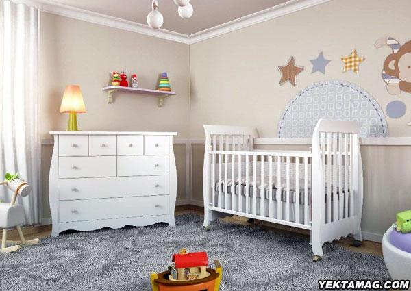 مدل تخت و کمد نوزاد پسر