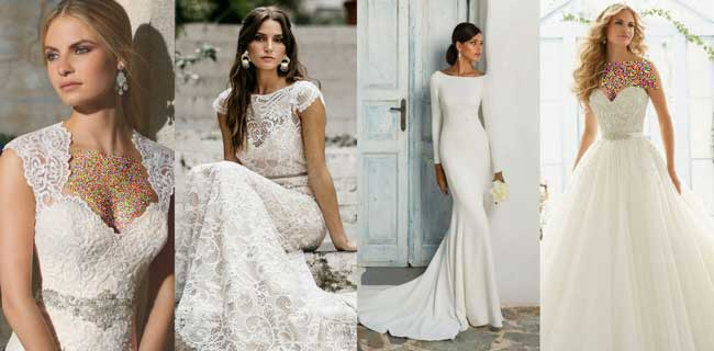 مدل لباس عروس جدید و مدل لباس عروس پرنسسی و گیپور