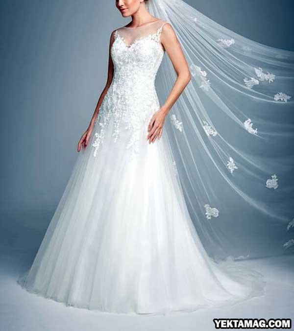 لباس عروس بدون پف شیک