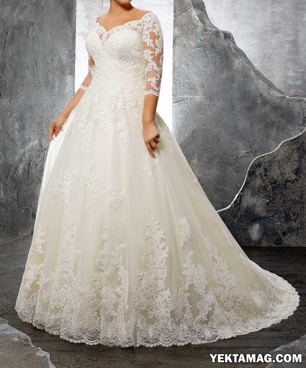 مدل لباس عروس آستین دار جدید و شیک