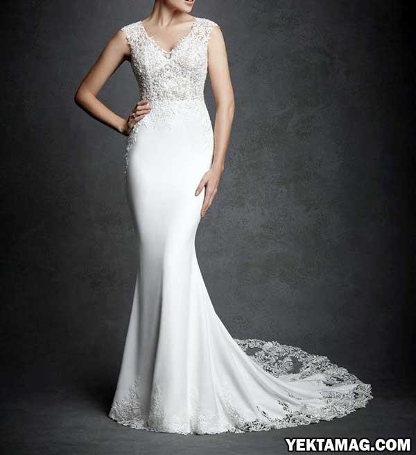 مدل لباس عروس قد بلند